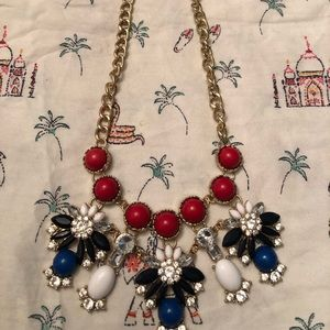 Red white and blue sparkle necklace